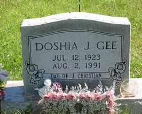 GEE, DOSHIA J. - Jackson County, Ohio | DOSHIA J. GEE - Ohio Gravestone Photos
