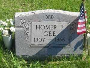 GEE, HOMER E - Jackson County, Ohio   HOMER E GEE - Ohio Gravestone Photos