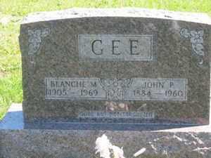 GREIDDER GEE, BLANCHE  M. - Jackson County, Ohio | BLANCHE  M. GREIDDER GEE - Ohio Gravestone Photos