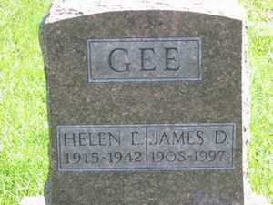 GEE, HELEN  E. - Jackson County, Ohio | HELEN  E. GEE - Ohio Gravestone Photos