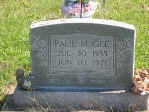 GEE, PAUL M. - Jackson County, Ohio | PAUL M. GEE - Ohio Gravestone Photos