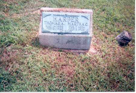 SPEAKMAN HARPER, MARTHA - Jackson County, Ohio | MARTHA SPEAKMAN HARPER - Ohio Gravestone Photos