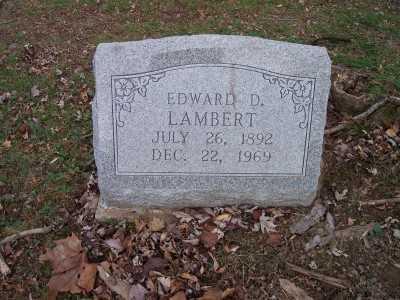 LAMBERT, EDWARD - Jackson County, Ohio   EDWARD LAMBERT - Ohio Gravestone Photos
