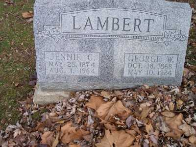 GARLINGER LAMBERT, JENNIE G. - Jackson County, Ohio | JENNIE G. GARLINGER LAMBERT - Ohio Gravestone Photos