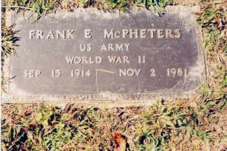 MCPHETERS, FRANK E. - Jackson County, Ohio | FRANK E. MCPHETERS - Ohio Gravestone Photos