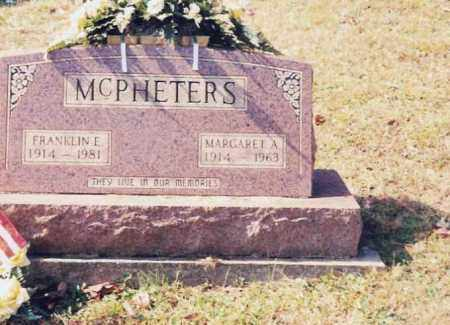 MCPHETERS, FRANKLIN E. - Jackson County, Ohio | FRANKLIN E. MCPHETERS - Ohio Gravestone Photos