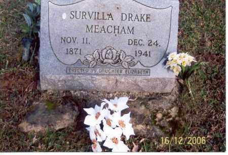 MEACHAM, SURVILLA - Jackson County, Ohio | SURVILLA MEACHAM - Ohio Gravestone Photos