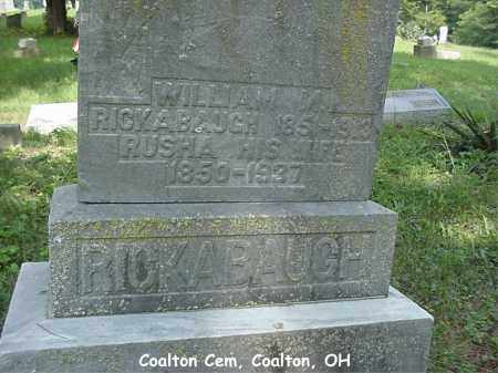 RICKABAUGH, JERUSHA - Jackson County, Ohio | JERUSHA RICKABAUGH - Ohio Gravestone Photos