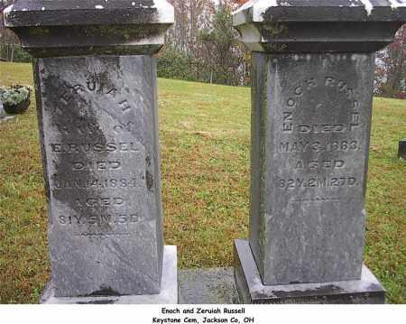 HUNTLEY RUSSEL, ZERUIAH - Jackson County, Ohio | ZERUIAH HUNTLEY RUSSEL - Ohio Gravestone Photos