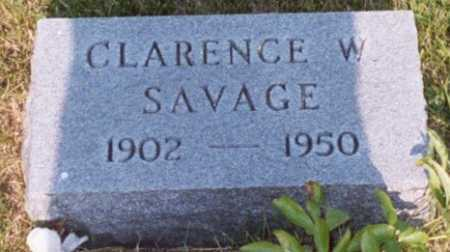 SAVAGE, CLARENCE WILLARD - Jackson County, Ohio   CLARENCE WILLARD SAVAGE - Ohio Gravestone Photos