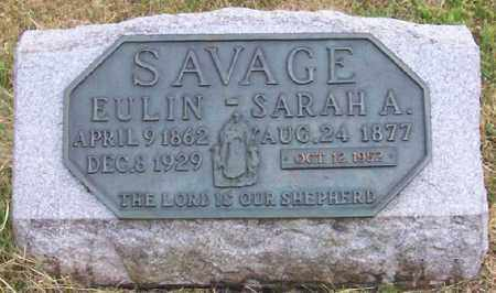 SAVAGE, SARAH ALICE - Jackson County, Ohio | SARAH ALICE SAVAGE - Ohio Gravestone Photos