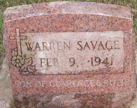 SAVAGE, WARREN GENE - Jackson County, Ohio | WARREN GENE SAVAGE - Ohio Gravestone Photos