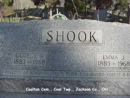 SHOOK, EMMA - Jackson County, Ohio | EMMA SHOOK - Ohio Gravestone Photos