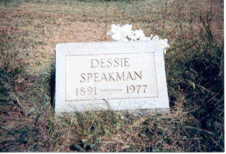 SPEAKMAN, DESSIE - Jackson County, Ohio   DESSIE SPEAKMAN - Ohio Gravestone Photos