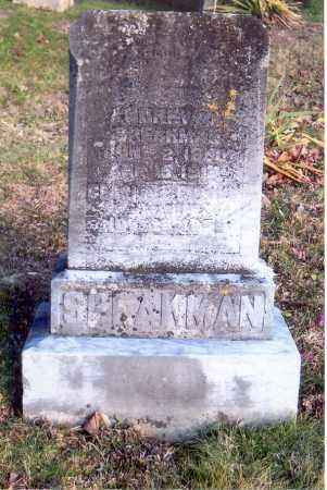 SPEAKMAN, UNREADABLE - Jackson County, Ohio | UNREADABLE SPEAKMAN - Ohio Gravestone Photos