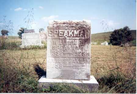 SPEAKMAN, WILLIAM R. - Jackson County, Ohio | WILLIAM R. SPEAKMAN - Ohio Gravestone Photos