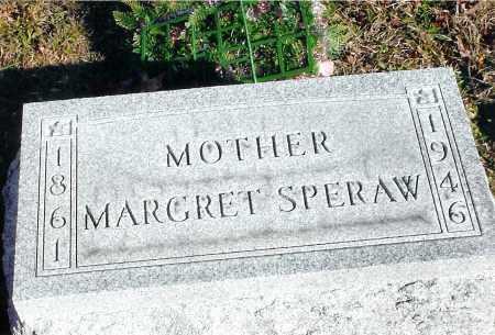 SPERAW, MARGARET - Jackson County, Ohio   MARGARET SPERAW - Ohio Gravestone Photos