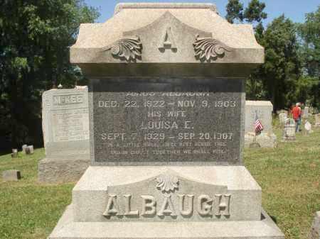 BLACKBURN ALBAUGH, LOUISA E. - Jefferson County, Ohio | LOUISA E. BLACKBURN ALBAUGH - Ohio Gravestone Photos