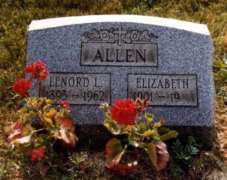 HOMER ALLEN, ELIZABETH - Jefferson County, Ohio | ELIZABETH HOMER ALLEN - Ohio Gravestone Photos