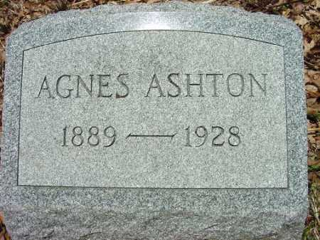 ASHTON, AGNES - Jefferson County, Ohio | AGNES ASHTON - Ohio Gravestone Photos