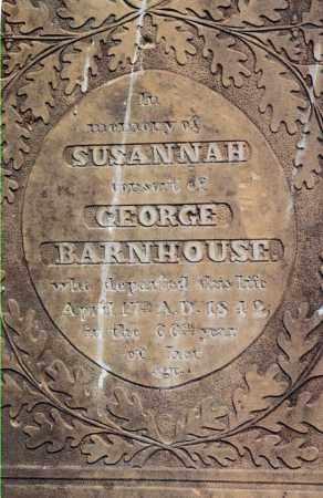 BARNHOUSE, SUSANNAH - Jefferson County, Ohio | SUSANNAH BARNHOUSE - Ohio Gravestone Photos