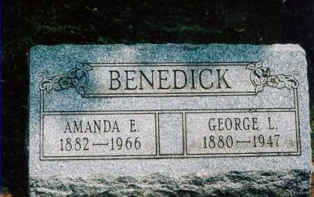 BENEDICK, GEORGE L. - Jefferson County, Ohio | GEORGE L. BENEDICK - Ohio Gravestone Photos