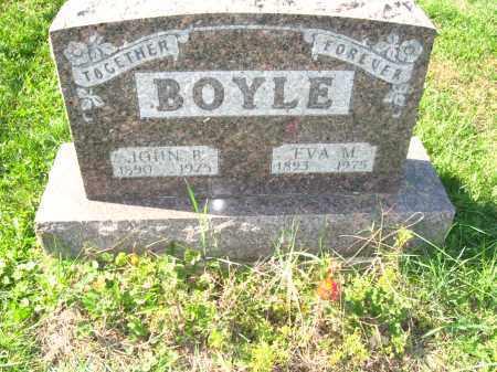 BOYLE, JOHN & EVA - Jefferson County, Ohio   JOHN & EVA BOYLE - Ohio Gravestone Photos