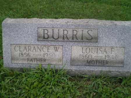BURRIS, CLARANCE WORTHINGTON - Jefferson County, Ohio | CLARANCE WORTHINGTON BURRIS - Ohio Gravestone Photos