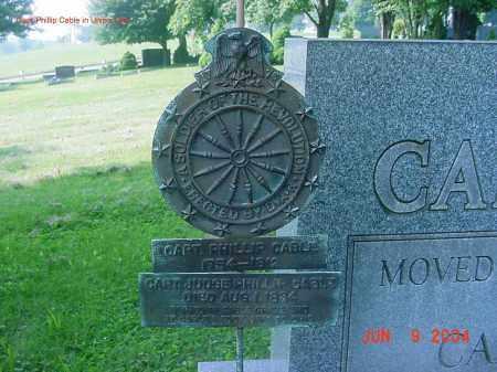 CABLE, CAPT PHILLIP - Jefferson County, Ohio   CAPT PHILLIP CABLE - Ohio Gravestone Photos