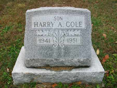 COLE, HARRY ALLEN - Jefferson County, Ohio | HARRY ALLEN COLE - Ohio Gravestone Photos