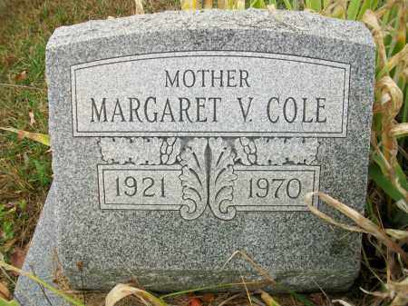 COLE, MARGARET V - Jefferson County, Ohio   MARGARET V COLE - Ohio Gravestone Photos