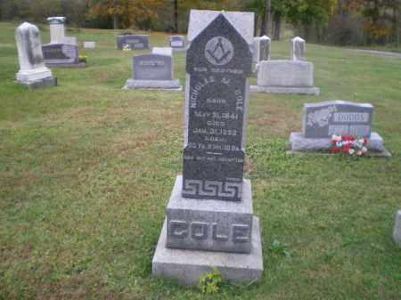 COLE, NICHOLAS MERRYMAN - Jefferson County, Ohio | NICHOLAS MERRYMAN COLE - Ohio Gravestone Photos