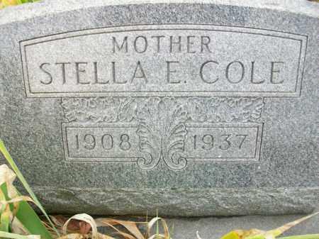 HILL COLE, STELLA E - Jefferson County, Ohio   STELLA E HILL COLE - Ohio Gravestone Photos