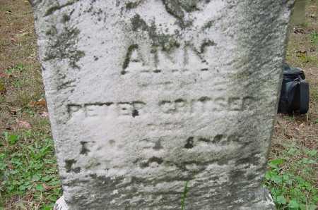 CRISTER, ANN - CLOSE VIEW - Jefferson County, Ohio | ANN - CLOSE VIEW CRISTER - Ohio Gravestone Photos