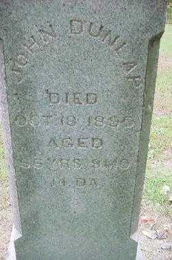 DUNLAP, JOHN - Jefferson County, Ohio   JOHN DUNLAP - Ohio Gravestone Photos
