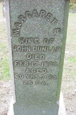 DUNLAP, MARGARET E. - CLOSE VIEW - Jefferson County, Ohio   MARGARET E. - CLOSE VIEW DUNLAP - Ohio Gravestone Photos