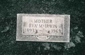 JONES EVA M., IRWIN - Jefferson County, Ohio   IRWIN JONES EVA M. - Ohio Gravestone Photos