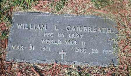 GAILBREATH, WILLIAM L - Jefferson County, Ohio   WILLIAM L GAILBREATH - Ohio Gravestone Photos