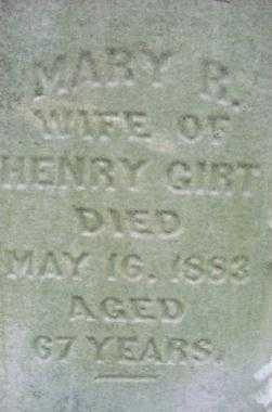 GIRT, MARY R. - Jefferson County, Ohio | MARY R. GIRT - Ohio Gravestone Photos
