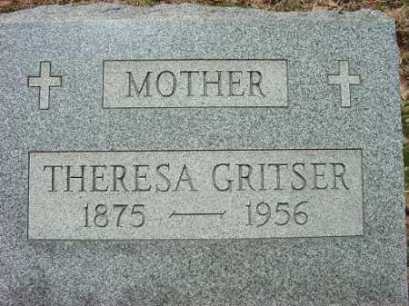 GRITSER, THERESA - Jefferson County, Ohio   THERESA GRITSER - Ohio Gravestone Photos