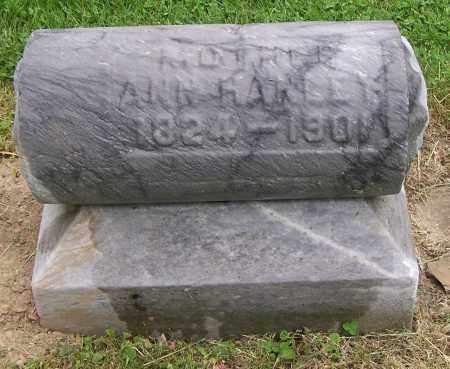 HANLEY, ANN - Jefferson County, Ohio | ANN HANLEY - Ohio Gravestone Photos