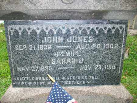 JONES, JOHN - Jefferson County, Ohio | JOHN JONES - Ohio Gravestone Photos