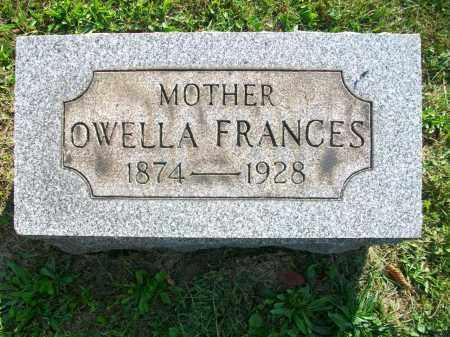 STARR JONES, OWELLA FRANCES - Jefferson County, Ohio | OWELLA FRANCES STARR JONES - Ohio Gravestone Photos