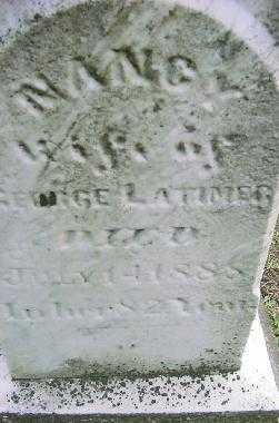 LATIMER, NANCY - Jefferson County, Ohio   NANCY LATIMER - Ohio Gravestone Photos