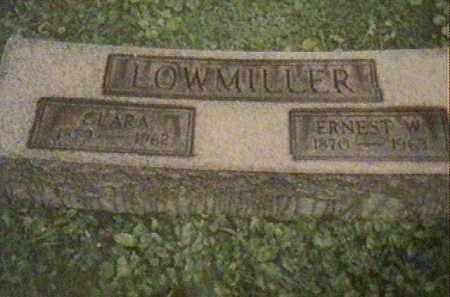 LOWMILLER, CLARA AND ERNEST W. - Jefferson County, Ohio | CLARA AND ERNEST W. LOWMILLER - Ohio Gravestone Photos