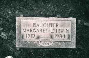 MARGARET L., IRWIN - Jefferson County, Ohio | IRWIN MARGARET L. - Ohio Gravestone Photos