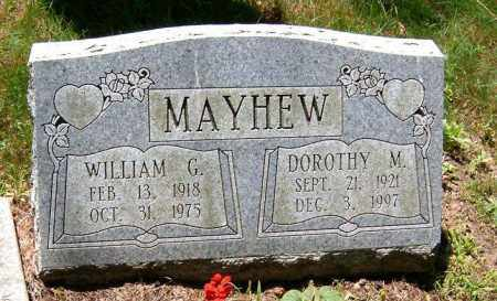 THOMPSON MAYHEW, WILLIAM GEORGE AND DOROTHY M. - Jefferson County, Ohio | WILLIAM GEORGE AND DOROTHY M. THOMPSON MAYHEW - Ohio Gravestone Photos