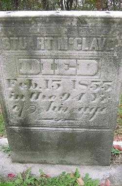 MC CLAVE, STUART - MONUMENT - Jefferson County, Ohio | STUART - MONUMENT MC CLAVE - Ohio Gravestone Photos