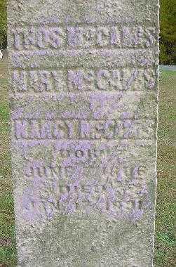 M'CAMIS, NANCY - Jefferson County, Ohio | NANCY M'CAMIS - Ohio Gravestone Photos