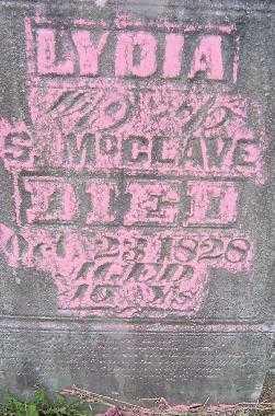 MC CLAVE, LYDIA - CLOSE VIEW - Jefferson County, Ohio | LYDIA - CLOSE VIEW MC CLAVE - Ohio Gravestone Photos